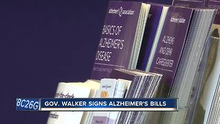 Governor Walker signs Alzheimer's related bills into law - Video