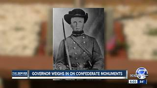 Colorado governor weighs in on confederate monuments - Video