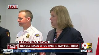 Dayton officials update the public on Sunday morning mass shooting