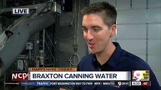Braxton Brewing Company canning drinking water for Hurricane Harvey survivors in Houston on Thursday - Video