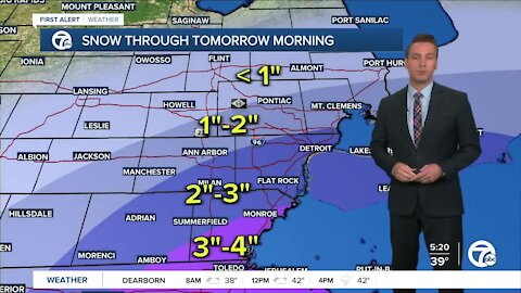 Metro Detroit Forecast: Freeze warnings and snow tonight