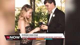 Florida teen with terminal cancer to marry high school sweetheart with help from community - Video