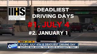 Study: July 4th is deadliest driving day - Video