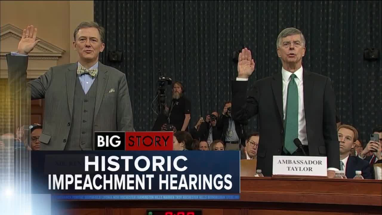 Trump impeachment inquiry hearing wraps up after 5 hours