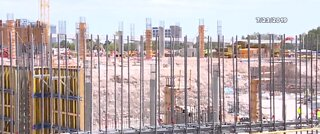 MSG Sphere construction site back open