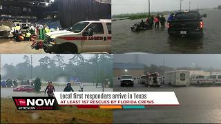 Local first responders arrive in Texas - Video