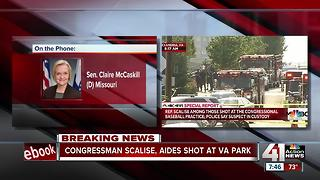 Sen. Claire McCaskill talks about shooting in Virginia - Video