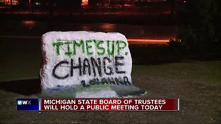 Michigan State Board of Trustees to hold public meeting today - Video