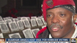 Guardian Angels host vigil for homicide victims - Video