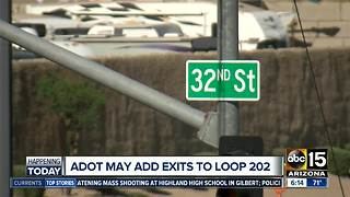 ADOT considering adding exits to South Mountain Freeway project - Video