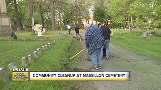 Volunteers spruce up Massillon Cemetery ahead of Memorial Day holiday