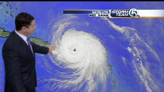 5 A.M. UPDATE: Hurricane Maria's eye nears Puerto Rico with 155 mph winds - Video