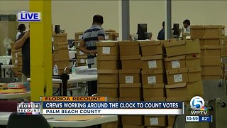 Palm Beach County working round the clock in effort to meet Thursday Florida recount deadline - Video