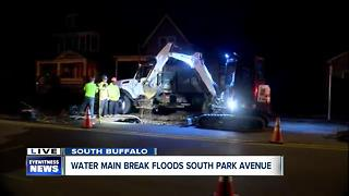 Two water main breaks in Buffalo overnight - Video