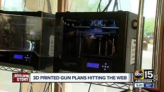 Debate stirs over 3D printed guns hitting the web - Video
