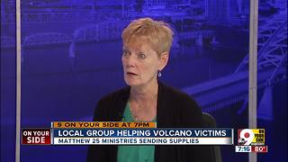 Local group helping volcano victims
