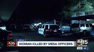 Woman killed in Mesa officer-involved shooting - Video