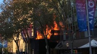 Building on Fire in Sydney's Central Business District - Video
