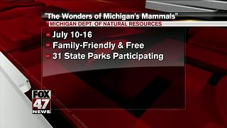 Some Michigan state parks offering programs about mammals - Video