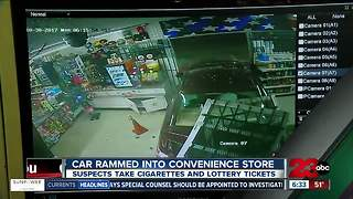 Car rams into convenience store - Video