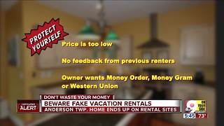 Scammers list woman's home as vacation rental - Video