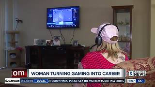 Las Vegas woman turning video games into a career - Video