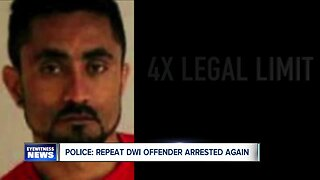 Police say repeat DWI offender has been arrested again