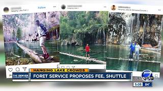 Forest Service proposes limiting Hanging Lake visitors to 615 per day - Video