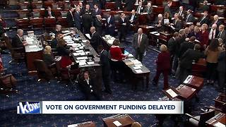 Vote to potentially end government shutdown delayed