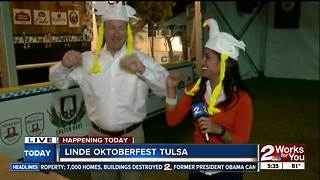 Doing the chicken dance to preview Oktoberfest Tulsa - Video