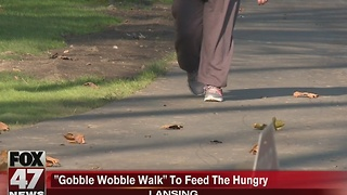 Local man walks to feed the hungry - Video