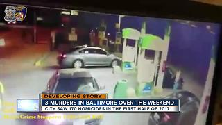 3 murders reported in Baltimore over the weekend - Video
