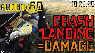 Paramotor Flight #60 Crash Landing = Damage