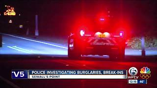 Homes burglarized in Sewall's Point - Video