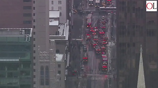 Three People Injured In Fire Atop New York's Trump Tower - Video