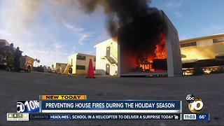 Preventing house fires during the holiday season