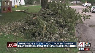 Hundreds still without power after weekend storm - Video