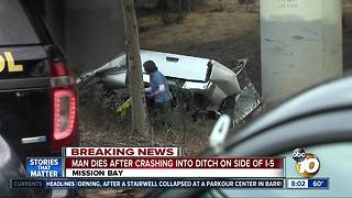 Man dies after crash in East Mission Bay - Video