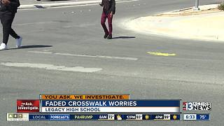 Parents worried about faded crosswalk - Video