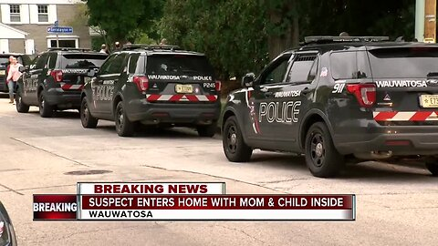 hit-and-run suspect flees police and runs into a Wauwatosa home with a mother and child inside