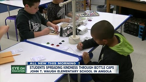 Fourth graders at John T. Waugh Elementary School in Angola run a kind kids compliments business