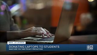 Donate your old laptop to students finishing online
