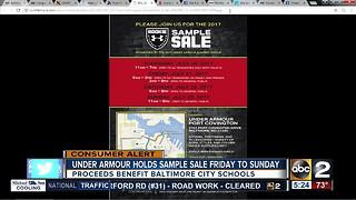 Under Armour sample sale benefitting Baltimore - Video