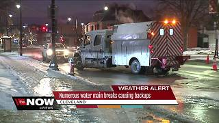 Numerous water main breaks cause backups - Video
