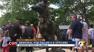 Memorial for fallen K-9 officers unveiled
