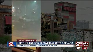 Mother, son recover after tornado - Video