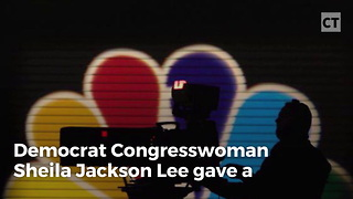 Sheila Jackson Lee Gives Interview With Nosebleed