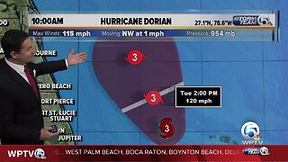 10 a.m. Dorian update for Tuesday