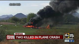 Two killed after plane crashes in Mesa - Video
