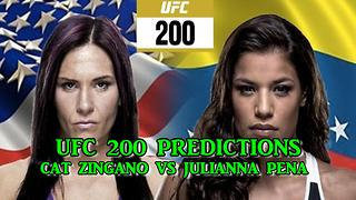 UFC 200 CAT ZINGANO VS JULIANNA PENA PREDICTIONS - Video